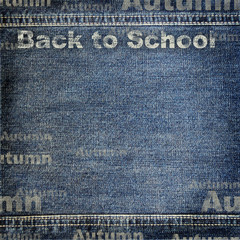 Denim texture with Back to School background