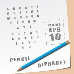 Alphabet and Pencil