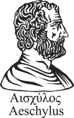 Ancient greek playwright Aeschylus.