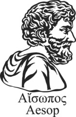 Ancient greek fabulist and story teller Aesop.