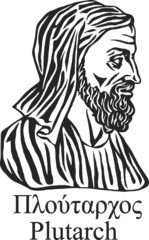 Ancient greek historian and philosopher Plutarch .