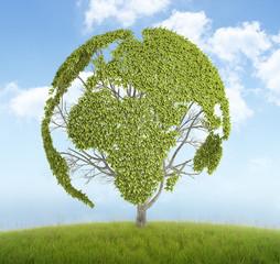 World map tree