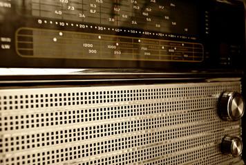 Old radio close up