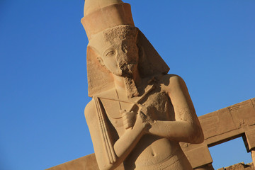 Statue of a pharaon in Luxor