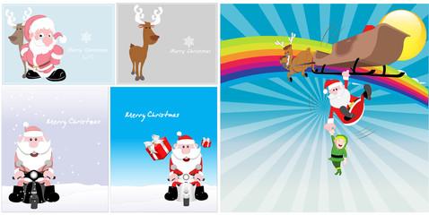 Christmas Santa Vector Backgrounds