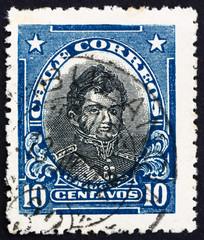 Postage stamp Chile 1912 Bernardo O'Higgins Riquelme