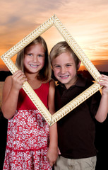 Kids in a Picture Frame
