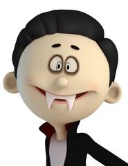 vampire cartoon in sweet smile