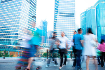 abstract image of a business people rushing