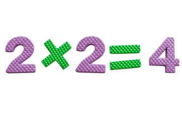 2x2, simple mathematical formula