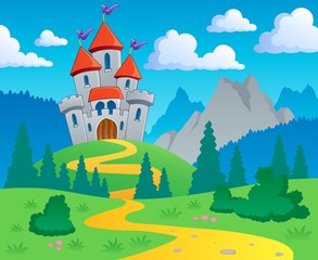 Photo sur Plexiglas Chateau Castle theme landscape 1
