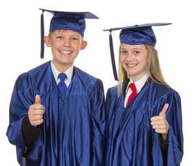 Thumbs up child graduate