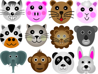 Cute Animal Face Set