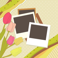 Abstract banner retro card vector