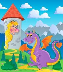 Printed kitchen splashbacks Castle Dragon theme image 3