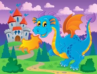 Printed kitchen splashbacks Castle Dragon theme image 5