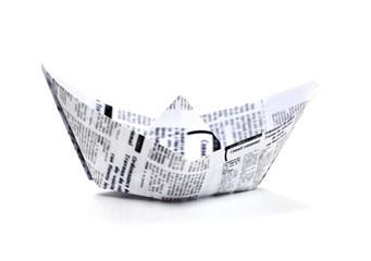 journal journaux bateau origami voyage maritime