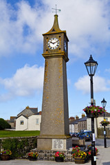 Clock Tower in St. Just, Cornwall.