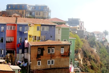 Houses in Valparaiso, Chile