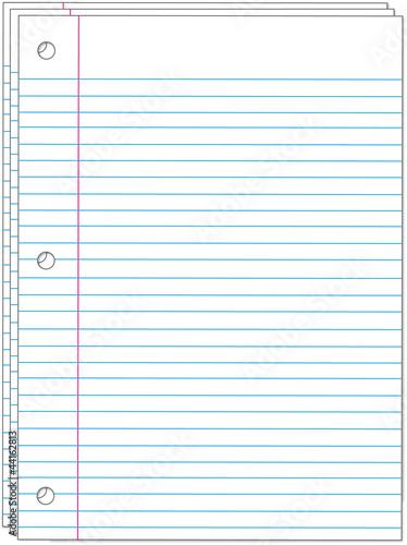 Ruled writing paper