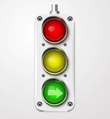 Traffic lights vector detailed
