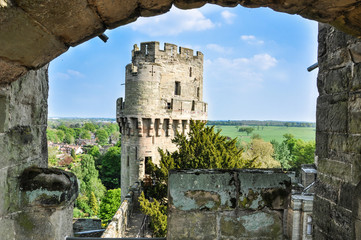 Arch view of Tower of Warwick castle