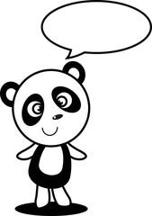 Little panda vector