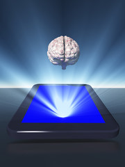 Tablet with brain