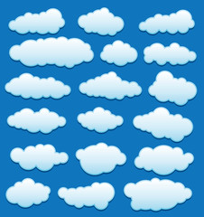 Printed roller blinds Heaven vector set of clouds in the sky