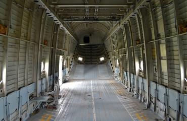 Cargo aircraft inside