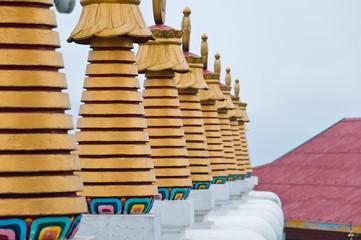 Pagoda at Phelri Nyingmapa Monastry in Kalimpong