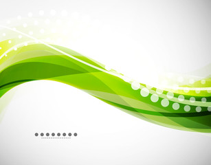Vector flowing wave line background