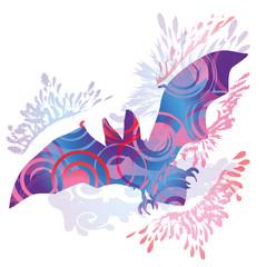 Schattenhklecks Fledermaus