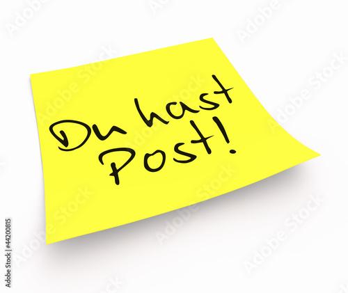 Notizzettel - Du hast Post! Stockfotos und lizenzfreie