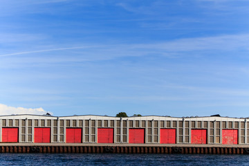Warehouse at the docks