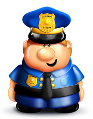 Whimsical Cartoon Policeman