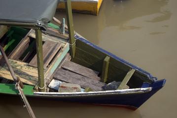 Wooden boat, Kampung Bako, Borneo, Malaysia