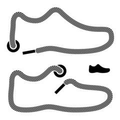 vector shoelace shoe symbols