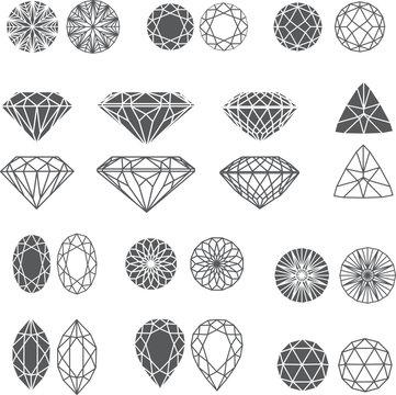 diamond design elements - cutting samples