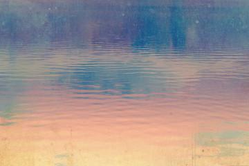 Dreamy dark, deep blue and pink  sky background