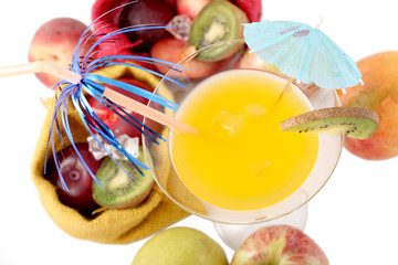 colorful fruit cocktail