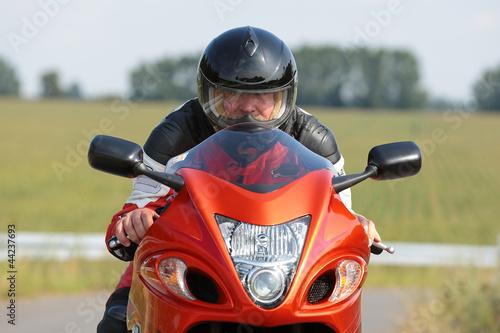 Wall mural Motorradfahrer