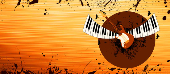 Piano and guitar background