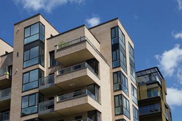 modernes Wohngebäude in Hamburg