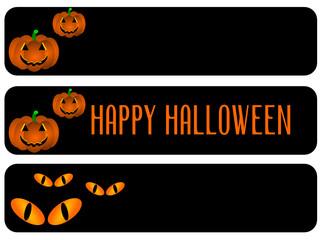 Black banner of Halloween