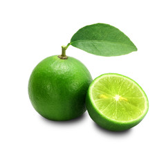 Lime isolated on a white background + Clipping Path