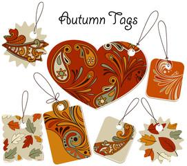 Vector Autumn Tags