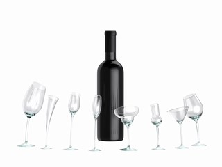 idea for advertising for wine (version isolated on white )