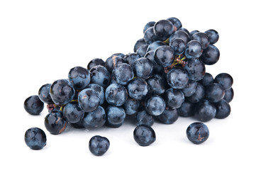 fresh blue grapes