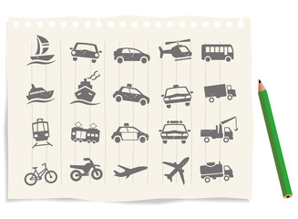 Transport_buttons icons vector